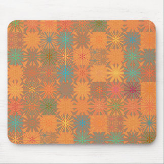 Orange Summer Heat Abstract Mosaic Mousepad