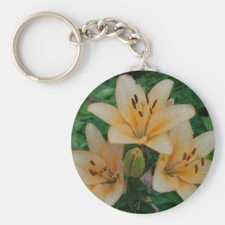 Orange Summer Lilies Keychain