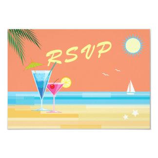 Orange Summer Wedding RSVP Card