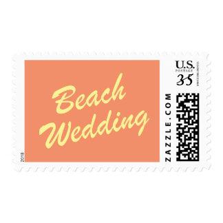 Orange Summer Wedding Stamp