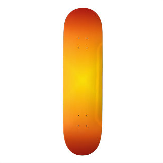 Orange Sun Blast Skateboard Deck