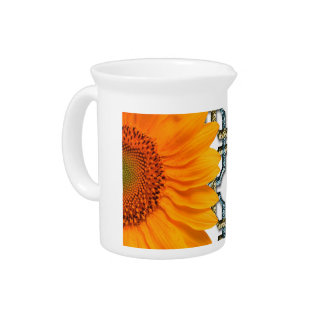 Orange Sun Flower Drink Pitchers