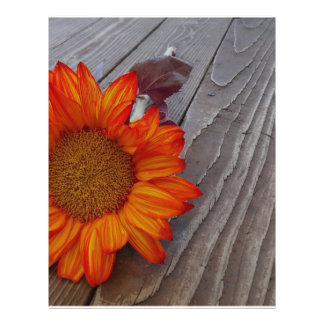 Orange Sunflower Personalized Flyer