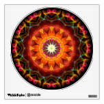 Orange Sunflower kaleidoscope Wall Skin