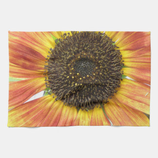 Orange Sunflower Kitchen Towel