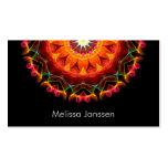 Orange Sunflower -Mandala- Double-Sided Standard Business Cards (Pack Of 100)