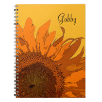 Orange Sunflower Notebook