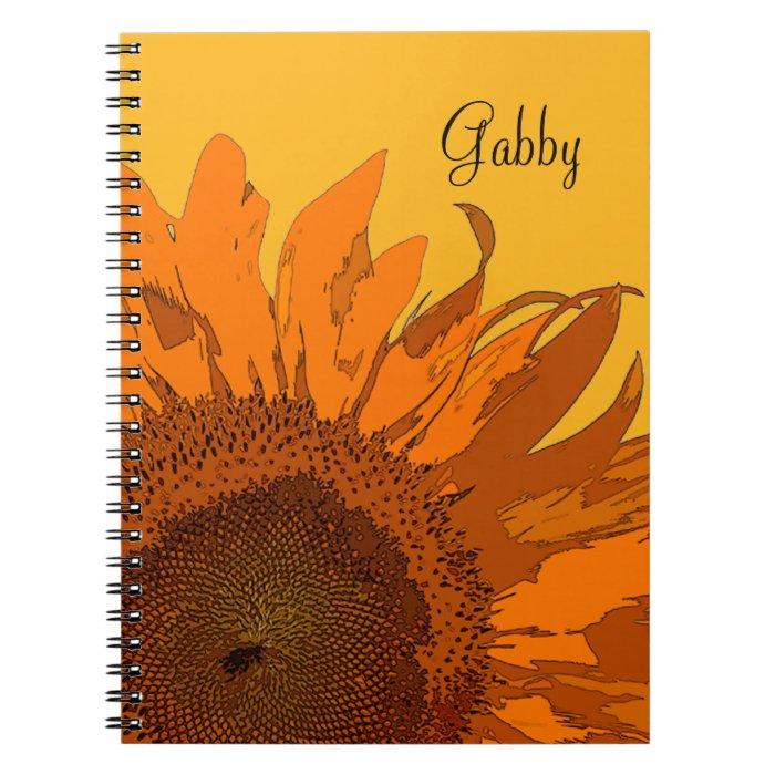 Orange Sunflower Notebook