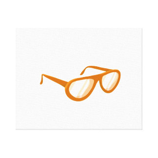 orange sunglasses reflection gallery wrapped canvas