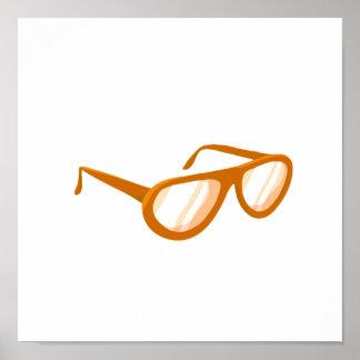 orange sunglasses reflection print