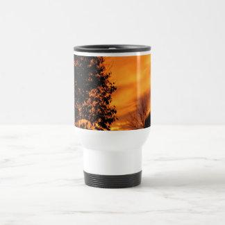 Orange Sunset 15 Oz Stainless Steel Travel Mug