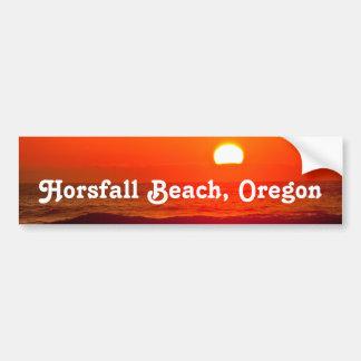 Orange Sunset at Horsfall Beach, Oregon Bumper Sticker