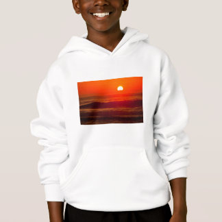 Orange Sunset at Horsfall Beach, Oregon Hoodie