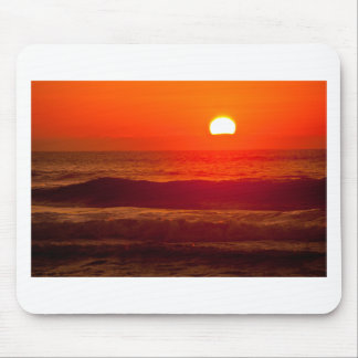 Orange Sunset at Horsfall Beach, Oregon Mouse Pad