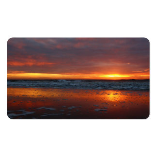 Orange sunset beach island of Texel Netherlands Business Card Template