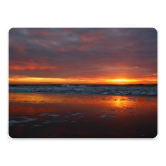 Orange sunset beach island of Texel Netherlands Personalized Announcement