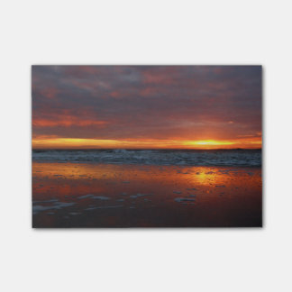 Orange sunset beach island of Texel Netherlands Post-it® Notes