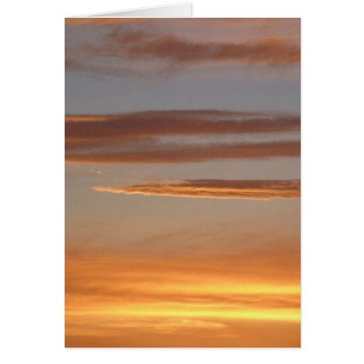 Orange Sunset Card