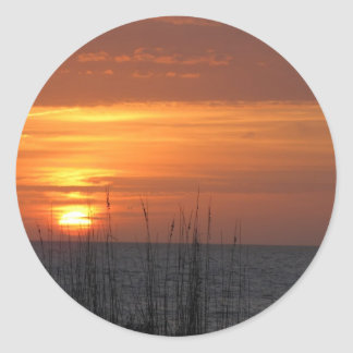 Orange Sunset Florida Classic Round Sticker