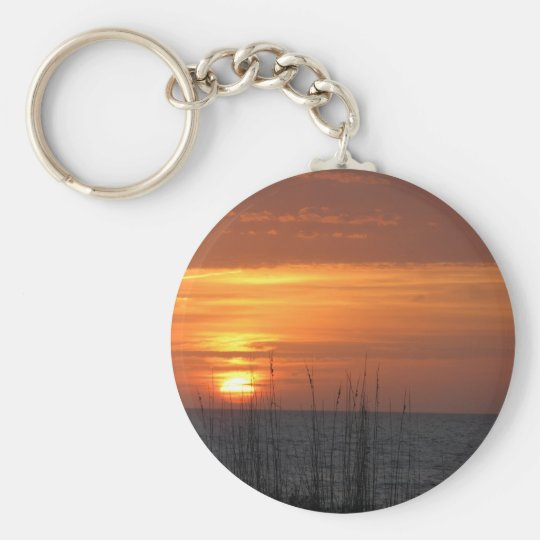 Orange Sunset Florida Keychain