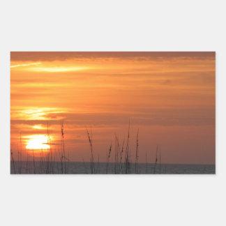 Orange Sunset Florida Rectangular Sticker