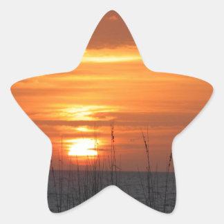 Orange Sunset Florida Star Sticker