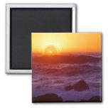 Orange Sunset Fridge Magnets