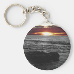Orange Sunset Keychain