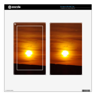 Orange Sunset Kindle Fire Decals