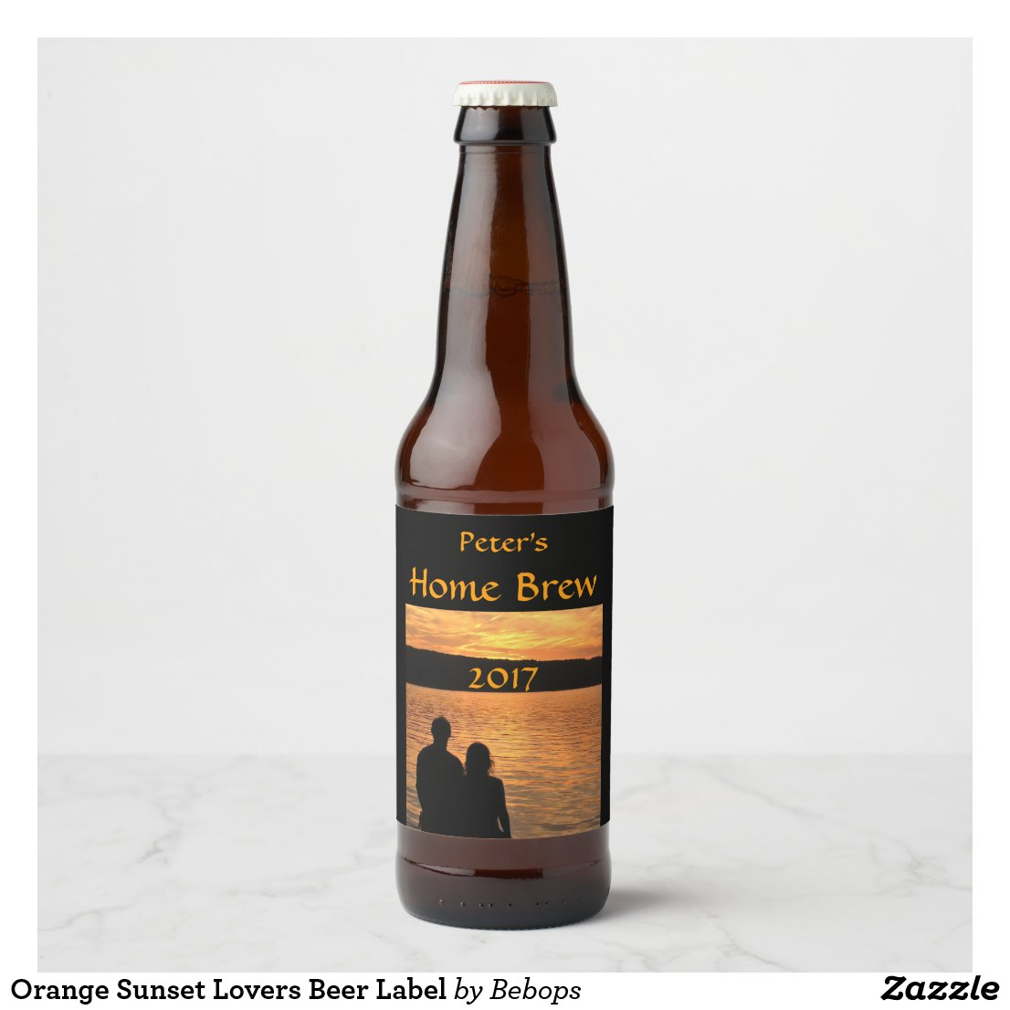 Orange Sunset Lovers Beer Label
