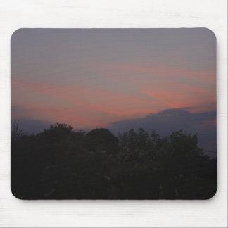 Orange Sunset Mouse Pad