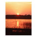 Orange Sunset on the lake Letterhead Design