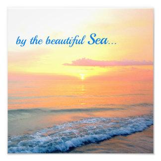 Orange Sunset over the Sea Photo Print