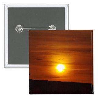 Orange Sunset Pinback Button