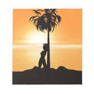 Orange sunset scenery notepad