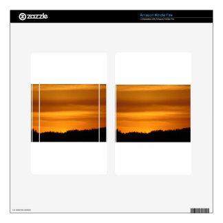 Orange Sunset Skin For Kindle Fire