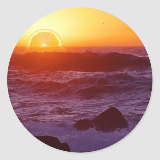 Orange Sunset Stickers