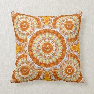 Orange Sunshine Kali Throw Pillow