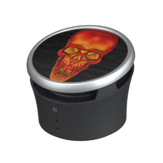 Orange Sunshine Skull Bluetooth Speaker