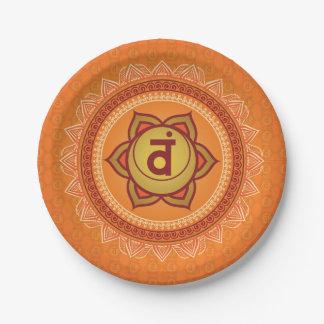 Orange Svadhisthana 2nd (Sacral) Chakra Plate