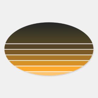 orange swatch oval sticker