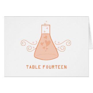 Orange Sweet Chemistry Table Number Card