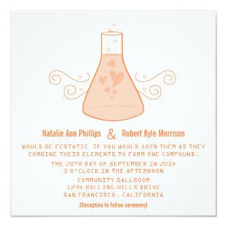 Orange Sweet Chemistry Wedding Invite