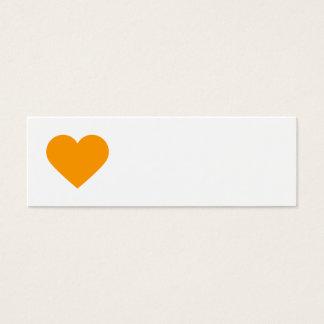 Orange Sweet Heart & Chevron Gift Tags