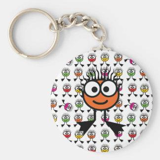 Orange Swim Character Keyring Basic Round Button Keychain