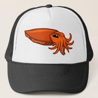 Orange Swimming Cuttlefish Trucker Hat
