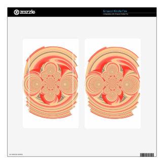 Orange swirl design kindle fire decal