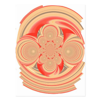 Orange swirl design postcard