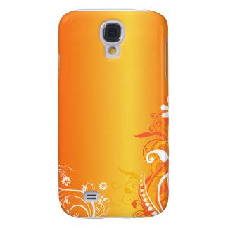 Orange swirl iphone case samsung galaxy s4 cases