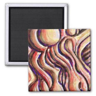 'Orange Swirl' magical Magnet